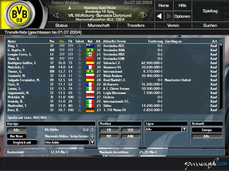 Fussball Manager 2004 Download Vollversion