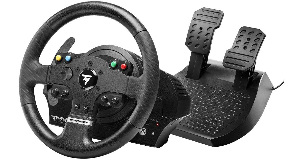 thrustmaster tmx force feedback alltagstaugliches lenkrad. Black Bedroom Furniture Sets. Home Design Ideas