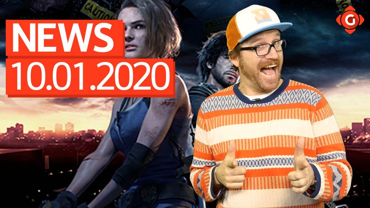Gameswelt News 10.01.2020 - Mit Resident Evil 3 und Batman Arkham