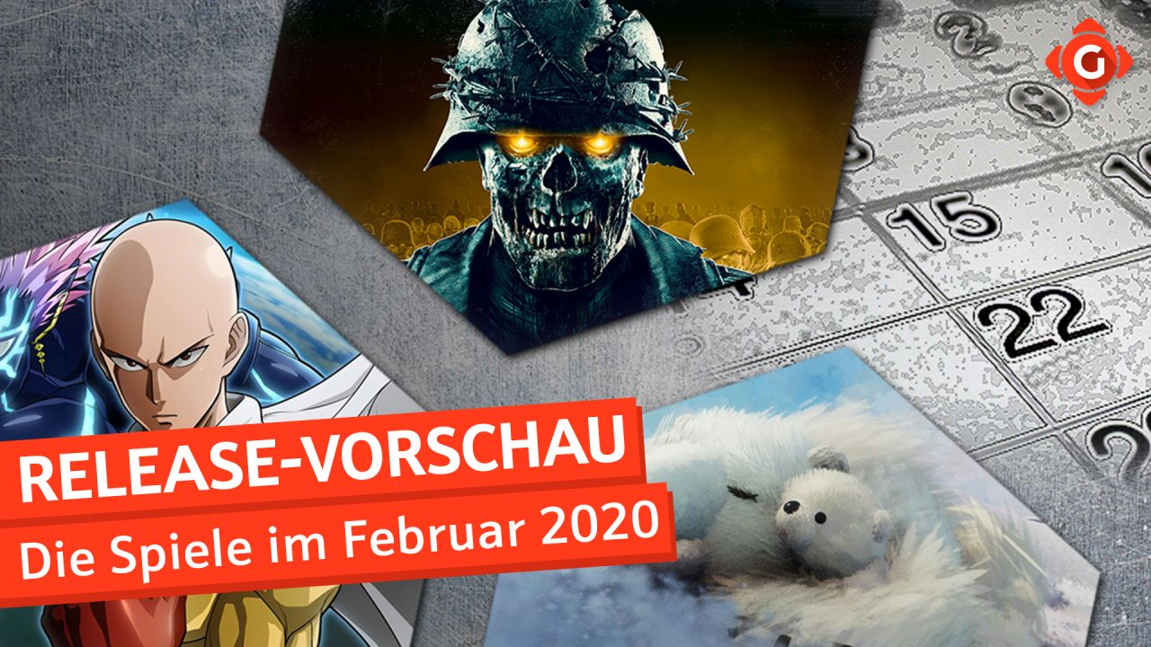 Release-Vorschau Februar 2020 - Zombie Army 4: Dead War, One Punch Man: A Hero Nobody knows und mehr