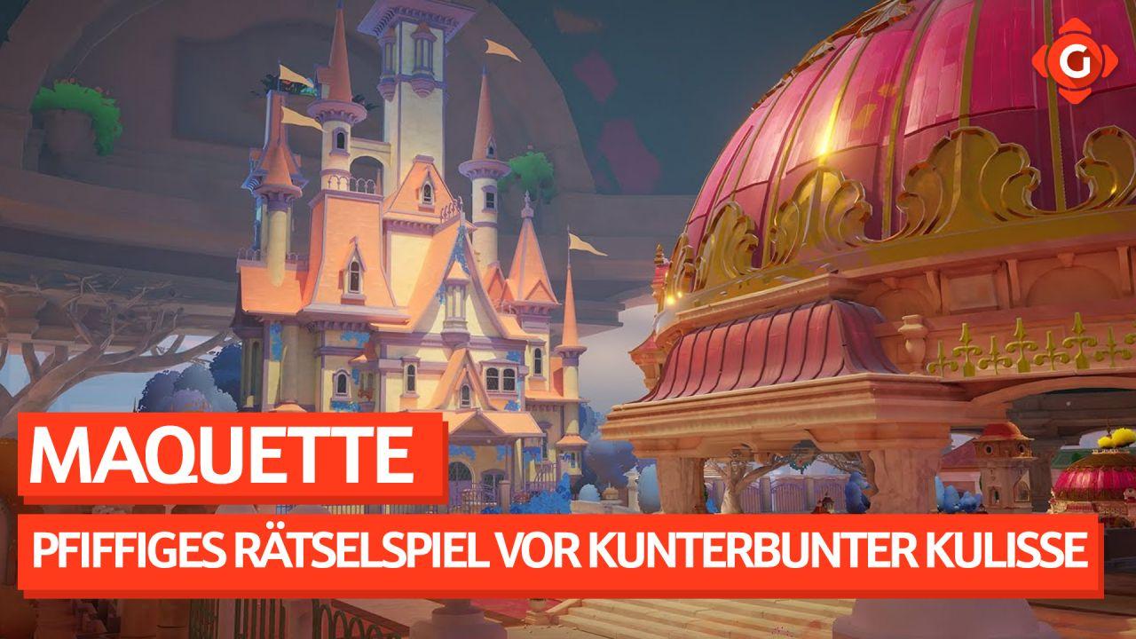 Pfiffiges Rätselspiel vor kunterbunter Kulisse. - Video-Preview zu Maquette